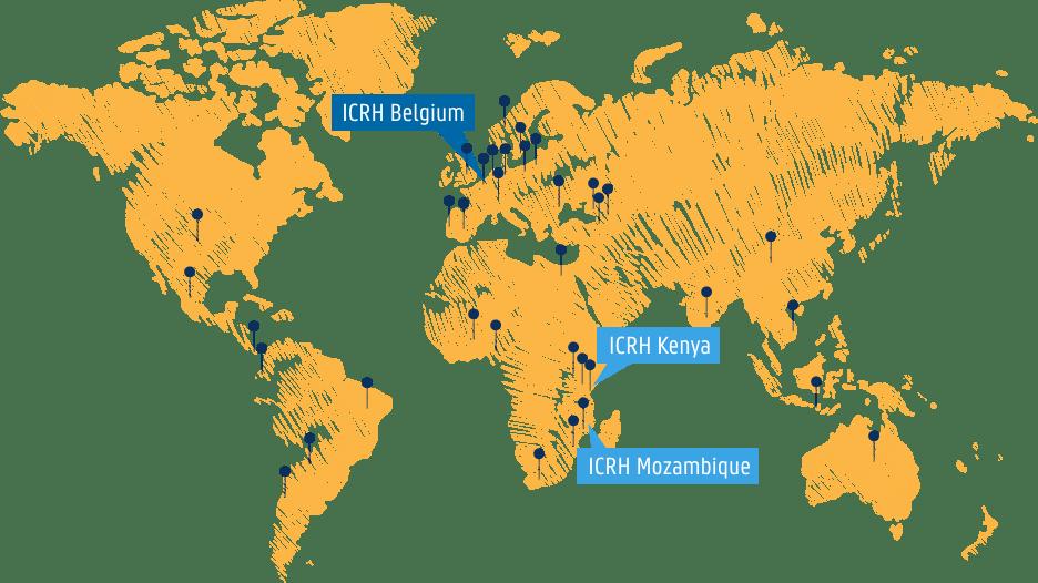 ICRH Belgium map